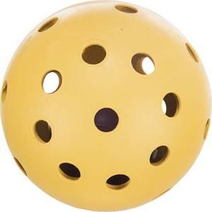 Bilde av Ball med hull og bjelle, naturgummi, Ø 7 cm
